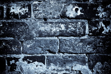 Vintage background - brickwork, night
