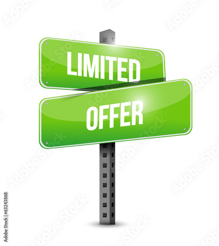 limited offer signpost illustration design