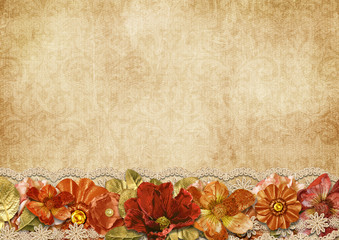 Vintage beautiful background with luxurious flowers