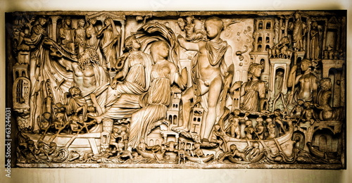 Vatican, a sculpture - bas-relief