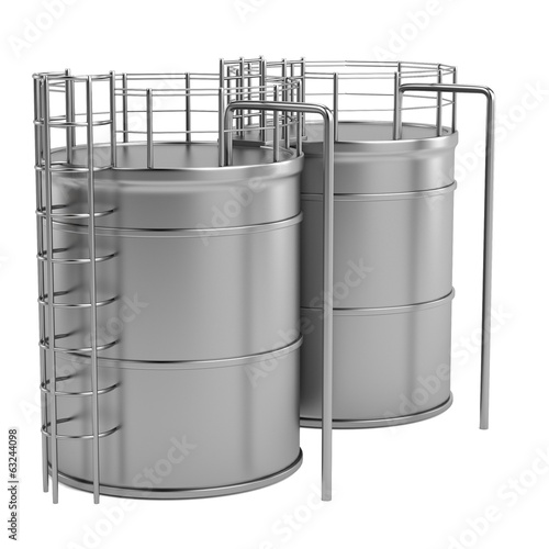 realistic 3d render of silo