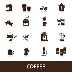 coffee icons set eps10