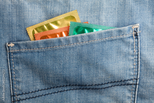 Condoms in pocket