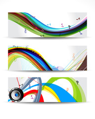 Colorful Musical Wave Banner