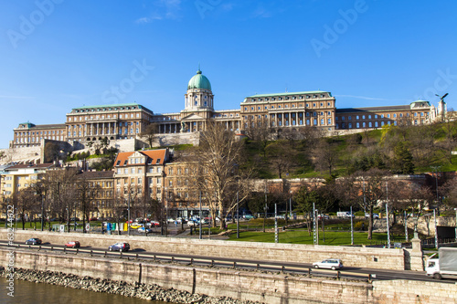 Budapest, Hungary. View of the bank of the Danube and the Royal