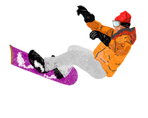 Extreme Snowboard.Vector