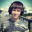Teenager Portrait in Headphones