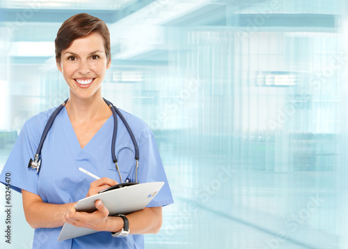 canvas print picture Beautiful doctor woman