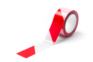 Red White Barrier Tape - Stock Photo