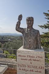 Driver Tazio Nuvolari Copper Statue