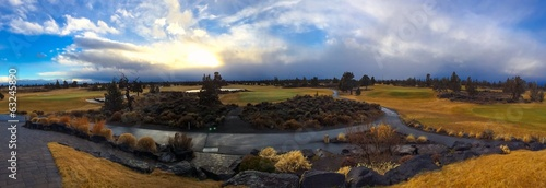 Central Oregon Golf Course Landscape Panorama