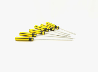 Many types of screwdrivers