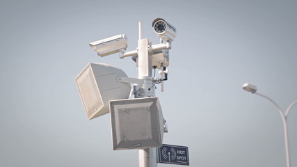 Surveillance camera.