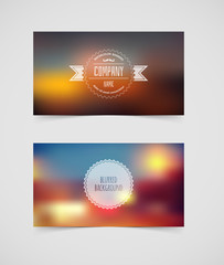 Blurred cards design template