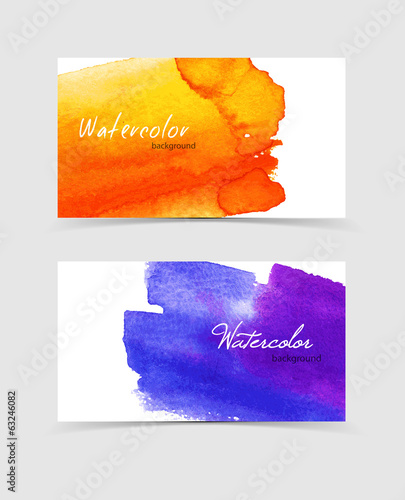 Watercolor design cards