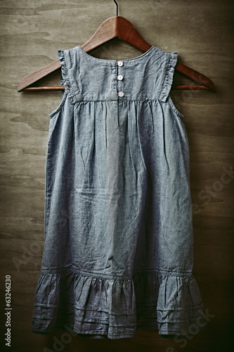 Old Fashion Girl Dress on a Clothes Hanger