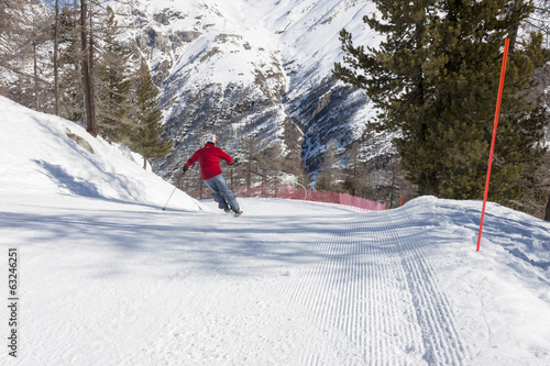 a skier on a challenging ski slope