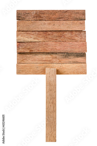Wooden sign isolated