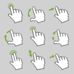Guide with basic gestures to work with modern gadgets