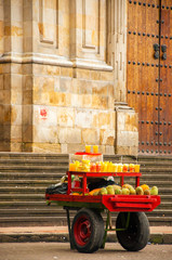Fruit for Sale on a Cart