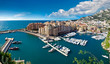 Panoramic view of Monte Carlo harbour