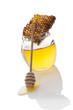 Organic bee honey.