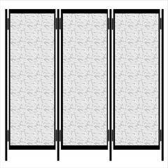 folding screen isolated on white background