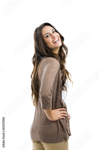 Beautiful woman smiling