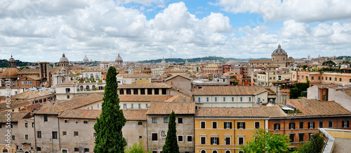 panoramic view of Rome from the Campidoglio