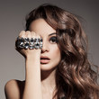 Fashion Portrait Of Beautiful  Woman With Jewelry