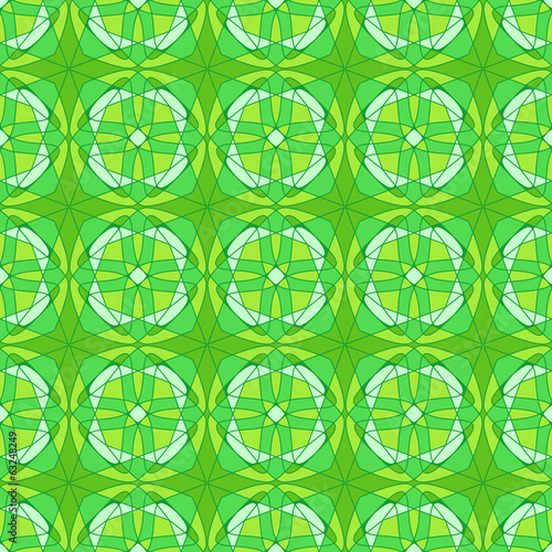 abstract seamless light green kaleidoscopic pattern