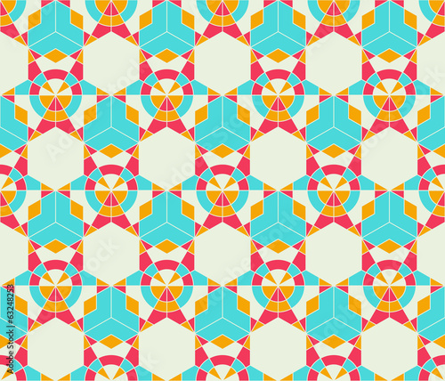 abstract seamless star kaleidoscopic futuristic pattern