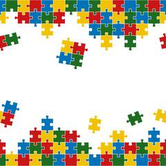 Puzzle Hintergrund bunt endlos
