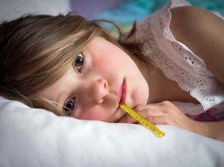 Sick young girl