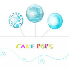 cake pops vektor grafik