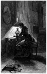 Woman Writing - end 19th century