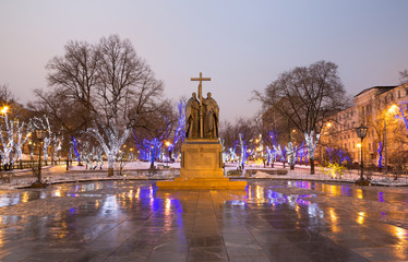 Saints Cyril and Methodius monument, Moscow, Russia