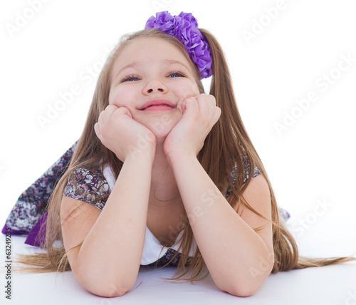 Smile of the beautiful 6-years old girl