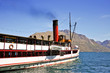 Steam boat on Wakatipu lake - Queenstown