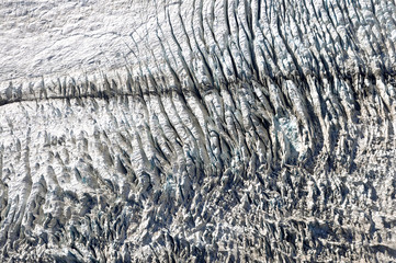 Fox glacier, aerial photography - New Zealand