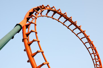 A segment of a roller coaster