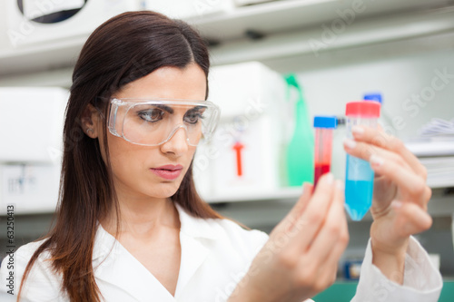 Woman at work in a laboratory