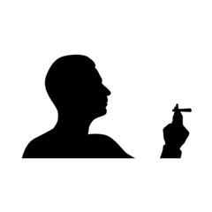 man smoking cigarette vector
