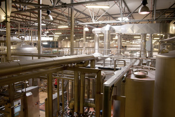 View across Pilsen Brewery packing area