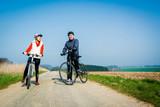 Radfahrer im Frühling