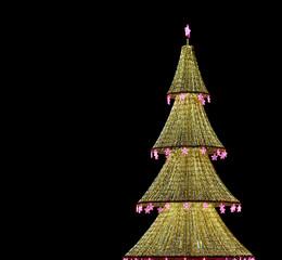 Christmas tree illuminated to Christmas and New Year holidays