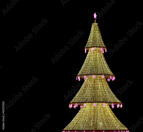 Christmas tree illuminated to Christmas and New Year holidays