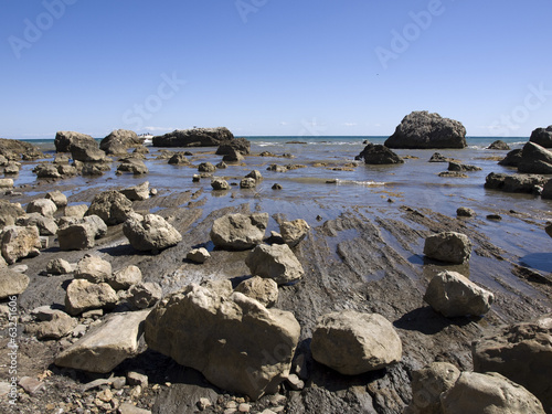rocks on the shore of the Crimea