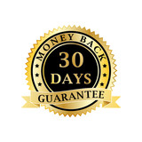 Money back guarantee golden badge