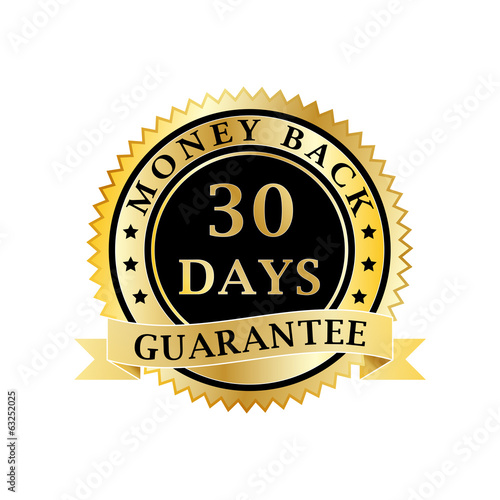 Money back guarantee golden badge